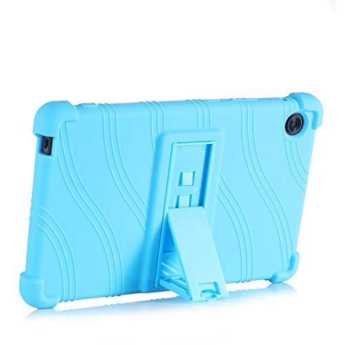 SsHhUu 10.1' Lenovo Tab M10 HD (TB-X505F,TB-X605F) / Smart Tab P10 (TB-X705F) Case, Light Weight Kid Friendly Soft Silicone Protective Cover with Kickstand for Lenovo Tab M10/P10, LightBlue
