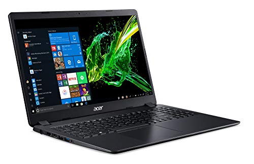 Acer Aspire 3 (A315-54-56KY) 39.6 cm (15,6 Zoll Full-HD matt) Multimedia Laptop (Intel Core i5-8265U, 8 GB RAM, 256 GB PCIe SSD, Intel UHD, Win 10 Home) schwarz