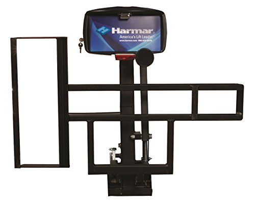 Harmar Mobility Upgraded AL015 Micro Power Scooter/Wheelchair Lift Outside Fully Automatic Carrier with II/III Hitch Adapter & Wiring Harness -  AL-015-WH-HA