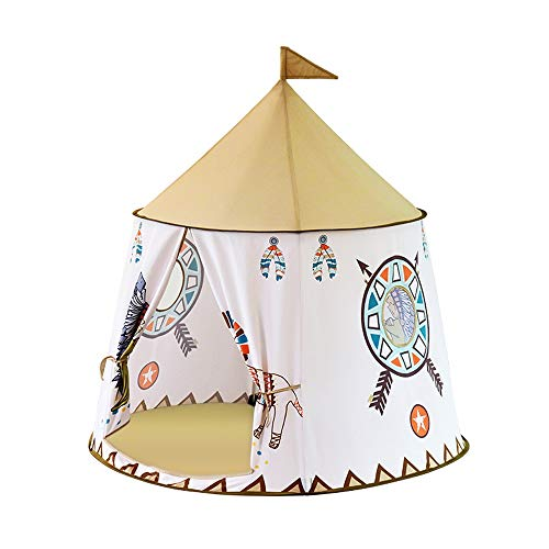 JINDEN Easy Set Up Ultralight Tent, Portable Princess Castle Present Hang Children's Tent Play House Indoor Princess Toy Tent Home Indian Castle House Play Tent Birthday