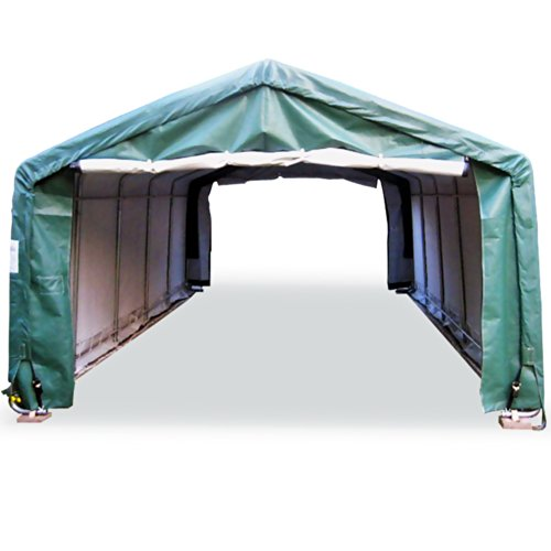 Rhino Portable Carports | Instant Garages | Vehicle Shelters (Green, House 10Wx20Lx8H)