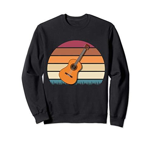Akustik Gitarre Vintage Gitarre Musiker Gitarristen Sweatshirt