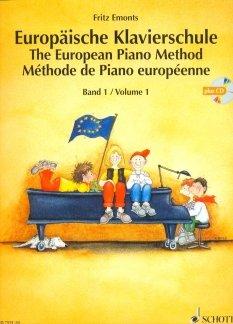 EUROPAEISCHE KLAVIERSCHULE 1 - arrangiert für Klavier - mit CD [Noten / Sheetmusic] Komponist: EMONTS FRITZ