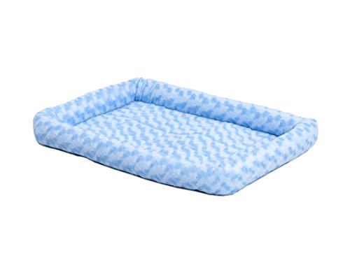 """18L-Inch Blue Dog Bed or Cat Bed w/ Comfortable Bolster 