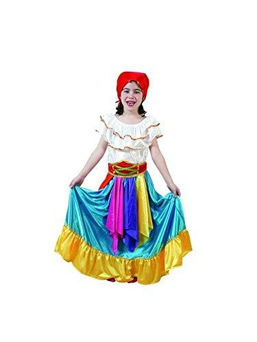 DISBACANAL Disfraz zíngara Azul niña - -, 3-4 años