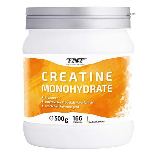 TNT • 500g Creatin Monohydrat Pulver • Reines hochwertiges Creapure® Kreatin Pulver • Laborgetestet & Produziert in Deutschland