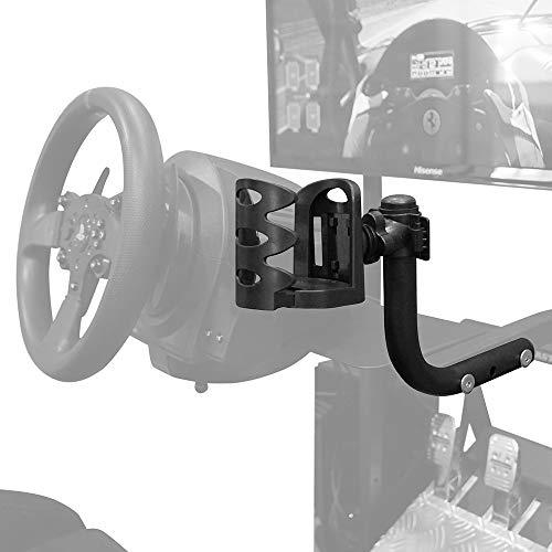 STRASSE レーシングコックピット専用 ドリンクホルダー台単品 クランプ式アイテムが使える! ハンコン設置台 コクピット レースゲーム