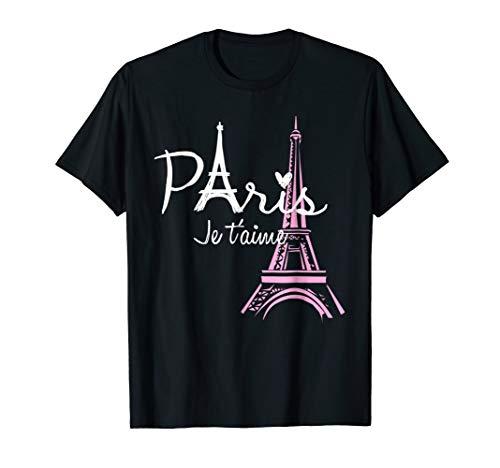 I Love Paris Eiffel Tower France T-Shirt French Souvenir