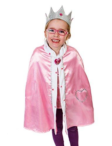Déguisement de reine pour enfant - déguisement de princesse - Costume de la Reine des Cœurs - cape de reine - Déguisement pour enfant - 3-8 ans- Lucy Locket