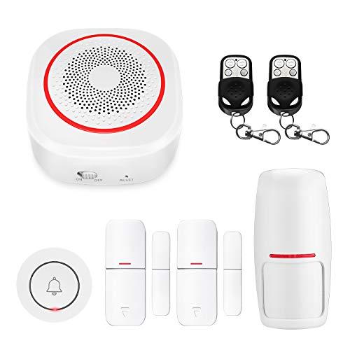 ERAY H3 Sistema de Alarma WiFi, Compatible con Alexa/Google, Control de la Aplicación iOS/Android, Inalámbrico/Antirrobo/Expandible/Multifuncional, Alarma de Seguridad para Casa