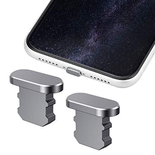 WEKON Puerta Antipolvo de Auriculares, Tapón Antipolvo Compatible, Enchufe de Teléfono a Prueba de Polvo para iPhone 5 5s 5c SE iPhone 6 6s 6plus 6s Plus 7 7plus iPad Air 1 2 iPad Mini 1 2 3 4 Plata