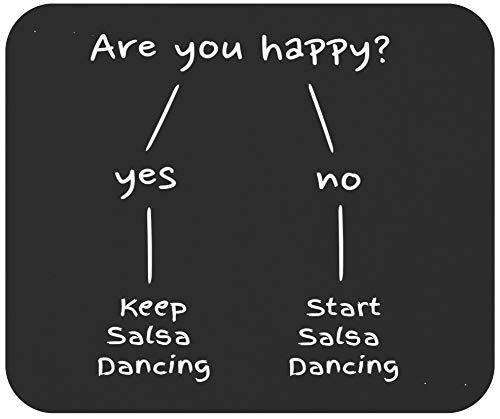 Dancer 9 Mousepad Dance Mousemat - Salsa Dance are You Happy Dancing Latin Dancer Black Office Poster Mouse Pad Canvas Mugs