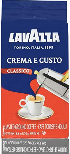 LavAzza Crema e Gusto Ground Coffee 8.80 oz (Pack of 8)