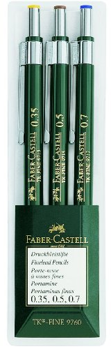 Faber-Castell 136030 Porte-mines TK-FINE - pochette de 3 (0.3; 0.5; 0.7)