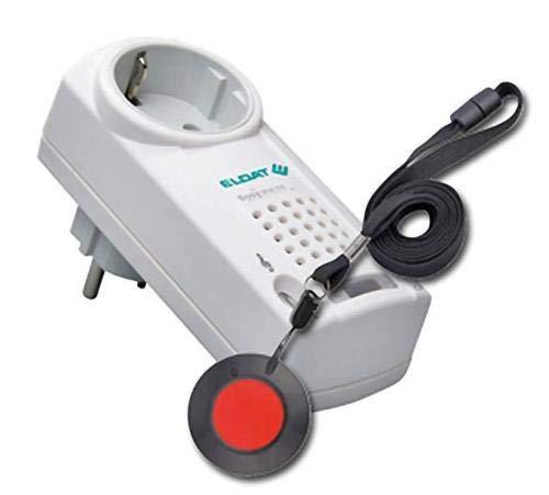 Hausnotruf mit Funk-Notruf-Halsband für die Pflege von Senioren, Altenpflege und Krankenpflege, Pflegeruf-Set mit Quittierungsfunktion