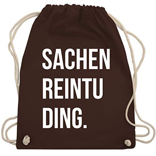 Shirtracer Festival Turnbeutel - Sachenreintuding - Unisize - Braun - turnbeutel reintuding - WM110 - Turnbeutel und Stoffbeutel aus Baumwolle
