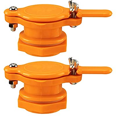 PAGOW Honey Gate Valve for Bucket, 2 Pack Honey Extractor Tap for Honey Tank, Durable Food Grade Plastic Beekeeping Equipment Tool (Yellow) from PAGOW