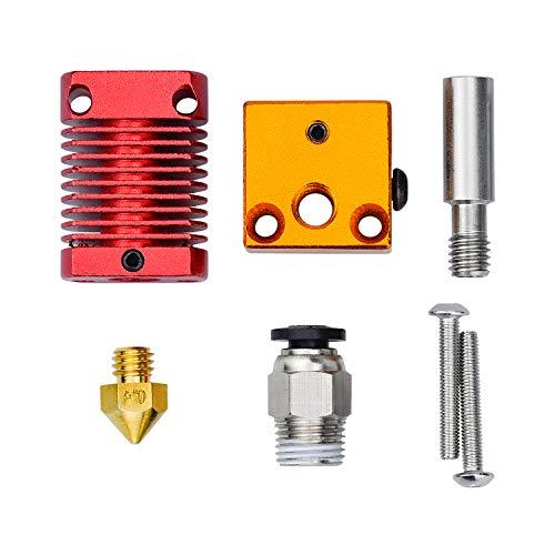 HENTEK extrudeuse hotend kit pièces de rechange pour imprimante 3D MK8 Creality CR10 Ender 3 avec bloc chauffant à buse 0.4mm 24V40 W 12V 40W