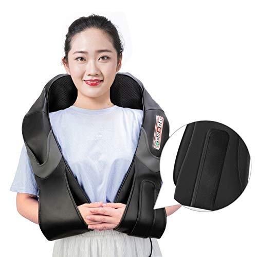 XIAMAZ Home Car U-Type Elektrische vingerdrukachterkant, schouder voor body, infrarood verwarming, voor in de auto, massage
