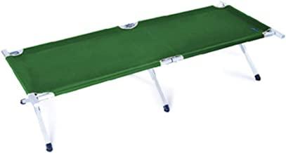 Home Outdoor/Folding Bed Outdoor Outdoor Leisure Single Beach Camping Camping Bed Aluminum Alloy (Color : Green)