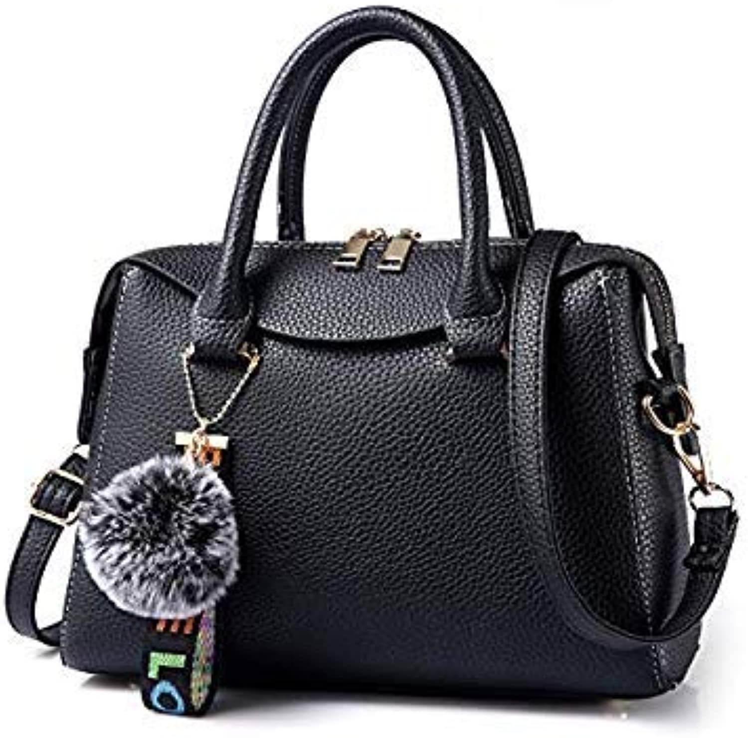 Bloomerang MONNET CAUTHY Female Totes Concise Fashion Occident Style Elegant Office Ladies Handbags Solid color Green Red Pink Black Boston color Black Handbags
