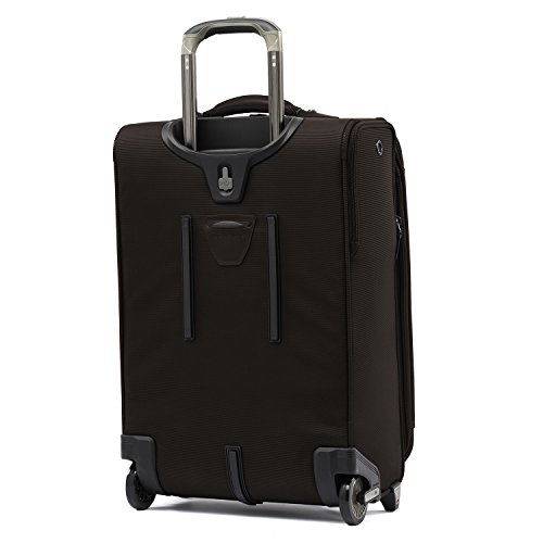 Travelpro Luggage Crew 11 22' Carry-on Expandable Rollaboard w/Suiter and USB Port, Mahogany Brown