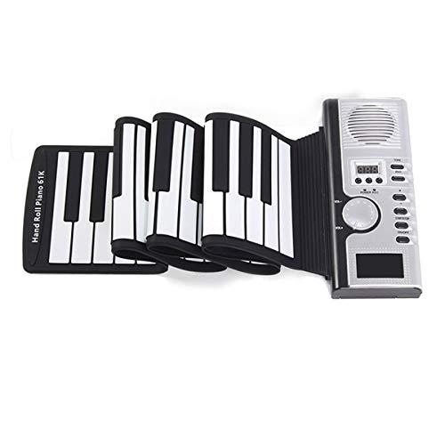 QCQ Roll Up Midi Flexible Piano 61 Teclas estándar Silicona de...