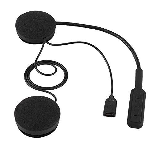 Qiilu Casque de Moto Casque Bluetooth Mains Libres Casque Appel écouteur Microphone