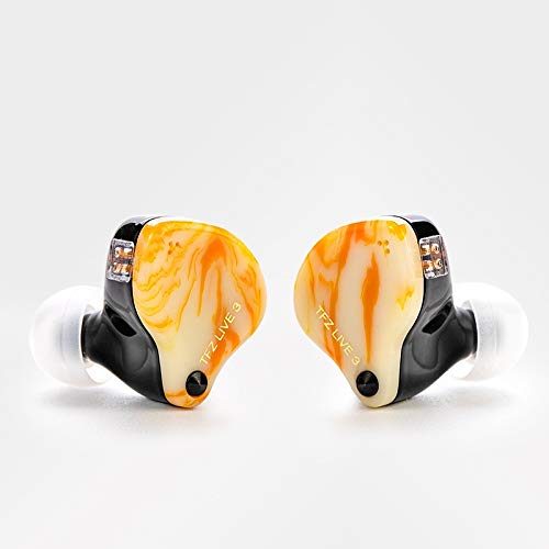 The Fragrant Zither TFZ Live 3 HiFi in Ear Monitor Sport Auricolare Extra Bass Cuffie Audiophile Wired Headset (giallo)