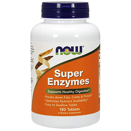 NOW Supplements, Super Enzymes, Formulated with Bromelain, Ox Bile, Pancreatin and Papain, Super Enzymes, 180 Tablets
