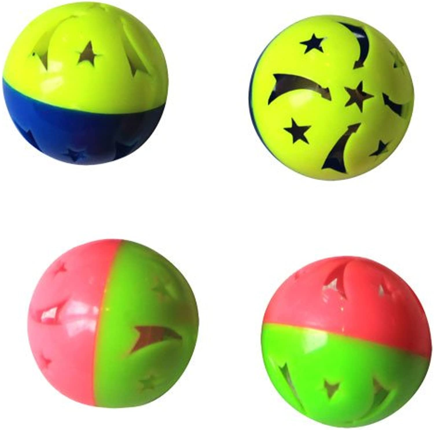 Iconic Pet 51694 24 Pieces Twotone Plastic Ball con Bell (6 Pack), assortito