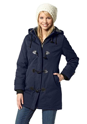 Flashlights Damen-Dufflecoat Parka Wintermantel Marine (44)