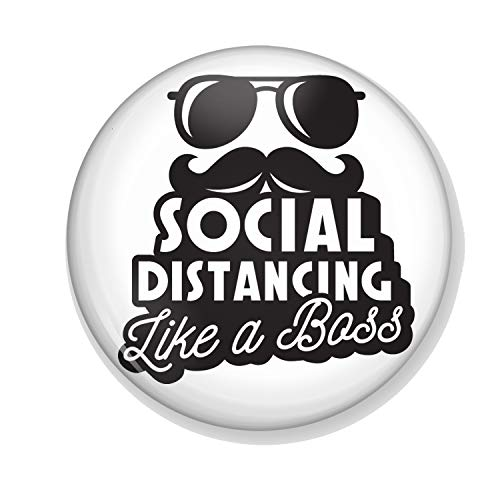 Gifts & Gadgets Co. Social Distancing Like A Boss Miroir de maquillage rond 58 mm