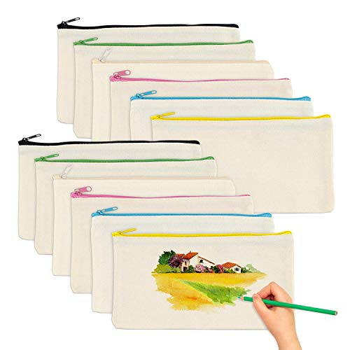 Trousses à Crayons Vierge, 12 Pièces Trousses de...