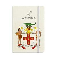 ジャマイカ北アメリカ 国章 ノートブッククラシックジャーナル日記A 5を書く