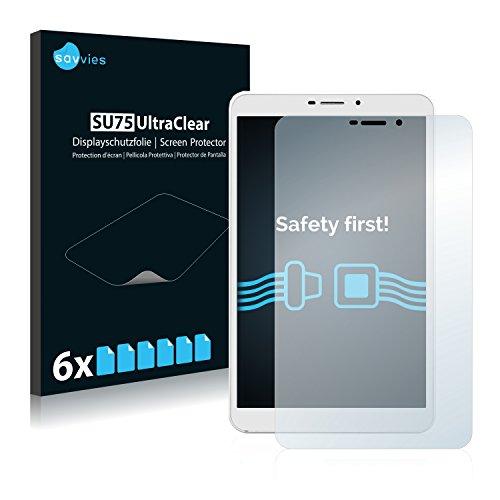 Savvies 6X Schutzfolie kompatibel mit Kiano SlimTab 8 3G Bildschirmschutz-Folie Ultra-transparent