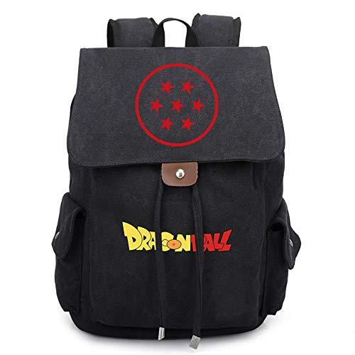 MAZF Déchargement de la Toile Dragon Ball Anime Image Backpack Cartable Sac d'école Étudiant Sac à Dos de Loisirs pour Filles Garçons