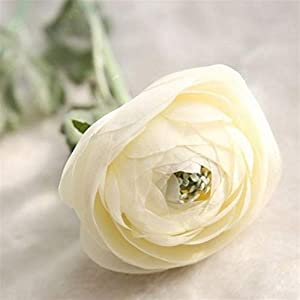 Meipa Time Artificial Ranunculus Flowers 22.8″ Long Real Touch Ranunculus Bulbs Silk Flower for Wedding Flowers Decoration