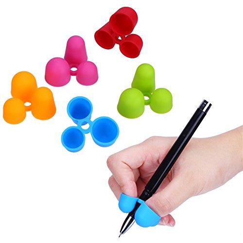 鉛筆もちかた 矯正 左右手兼用 鉛筆持ち方 ペングリップ 2018新発売 子供 柔らかい 筆圧 疲労軽減 鉛筆グリップ 鉛筆セット 握り方矯正 正しい持ち方(5個入り)