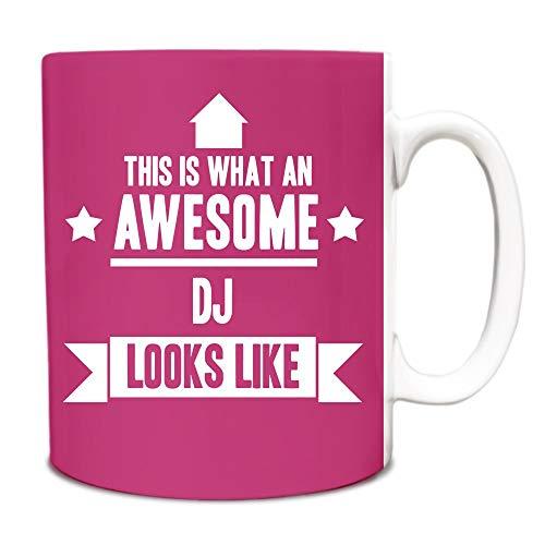 Thee Mok, Witte Keramische Mok Koffiemok Roze Dit is Wat een Geweldige Dj Ziet eruit als Gift Idee Werk 11 Ounces