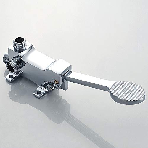AXWT Caliente y fría Interruptor de pie Espesar Modelos for Suelo de instalación del Grifo Pedal Interruptor Grifo grifos válvula de pie, for el baño lavabos en los hospitales, Lugares públicos Grifo