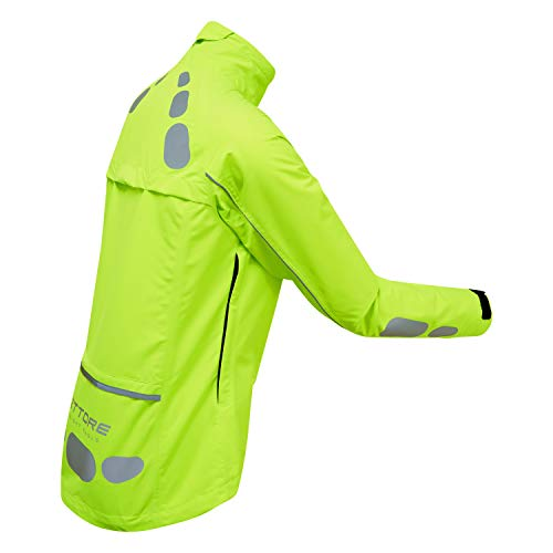 41x6QRtMpjL. SS500  - Ettore Ladies Cycling Jacket Waterproof Breathable High Visibility Yellow - Night Eagle