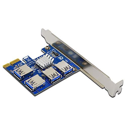 Baovery Placa de expansão PCI 1 para 4 compartimentos PCI USB 3.0 Conversor Adatper PCIE Riser Cards para dispositivo de mineração Bitcoin