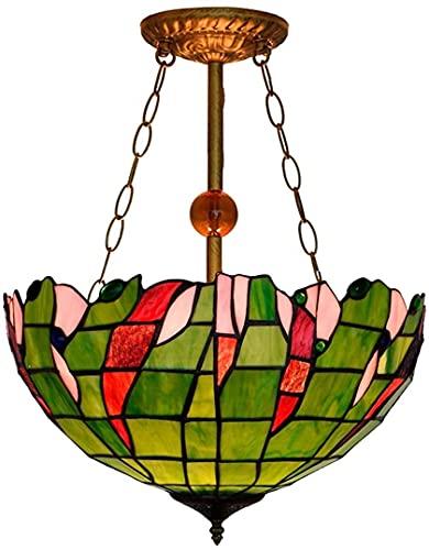 Estilo de araña creativa, accesorio de luz colgante de hoja verde, lámpara de techo de 16 pulgadas Tiffanystyle Lámpara de techo Colgante Luz de colgante COMEDOR DE COMEDOR DE LUZ ARTE DE LÁMPARAS DE