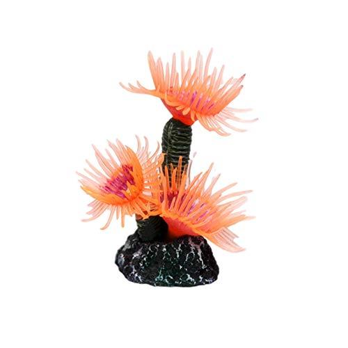 QueenHome Künstliche Weichkorallen Aquarium Aquarium Simulation Dekoration ca. 3,5 3 8 cm / 1,38 1,18 3,15 Zoll