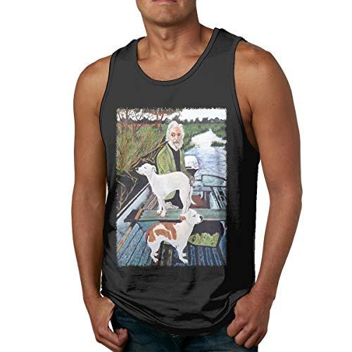 KellySotoUS Goodfellas Painting Mans Vest Workout Tank Top Sleeveless T Shirt Undershirts XL Black