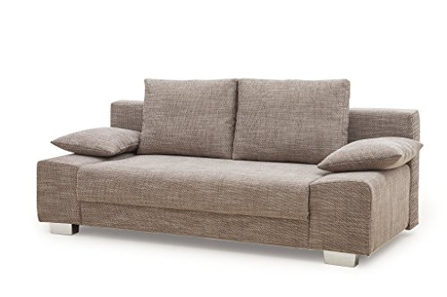 Collection AB Max Schlafsofa, Stoff, Cappuccino, 98x201x85 cm