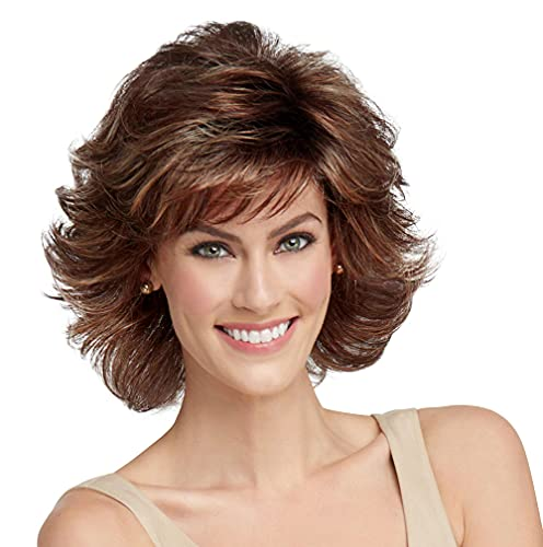 Raquel Welch Breeze, Short Textured Layers With A Feathered Bob Style Hair Wig For Women, ss8/29 Shadow Shade Hazelnut by Hairuwear