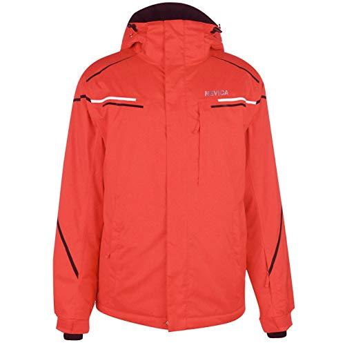 Nevica Herren Meribel Ski Jacke Skijacke Kapuze Taschen Rot/Schwarz XL