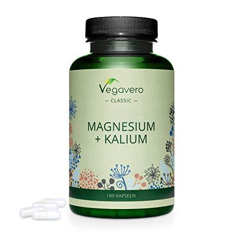 MAGNESIO e POTASSIO Vegavero® | 180 capsule | Forma CITRATO: la migliore | Vegan